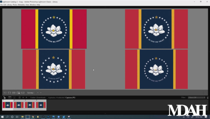 Mississippi Flagge – finale Auswahl, Quelle: YouTube/Mississippi Department of Archives and History