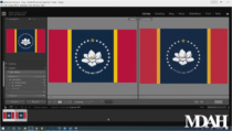 Mississippi Flagge – Reinzeichnung, Quelle: YouTube/Mississippi Department of Archives and History