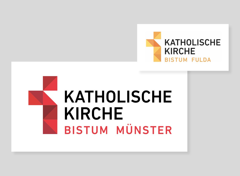 Bistum Münster Logo / Bistum Fulda Logo, Quelle: Bistum Münster / Bistum Fulda, Bildmontage: dt