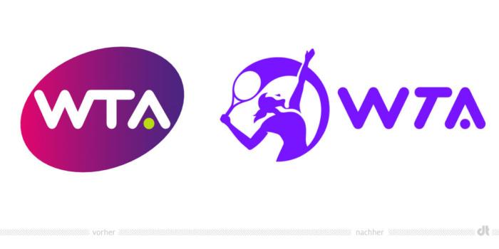 WTA Logo – vorher und nachher, Bildquelle: WTA, Bildmontage: dt
