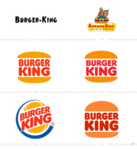Burger King Logo Evolution, Bildquelle: Burger King Deutschland, Wikipedia, United States Patent and Trademark Office, Bildmontage: dt