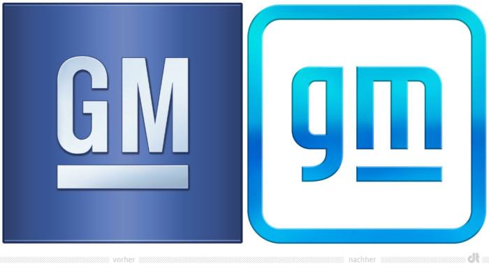 General Motors – vorher und nachher, Bildquelle: General Motors, Bildmontage: dt
