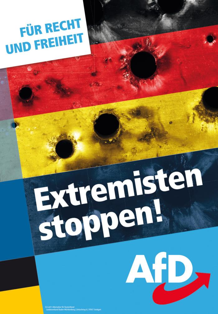 Landtagswahl Baden-Württemberg 2021 AfD – Plakat, Quelle: AfD Baden-Württemberg