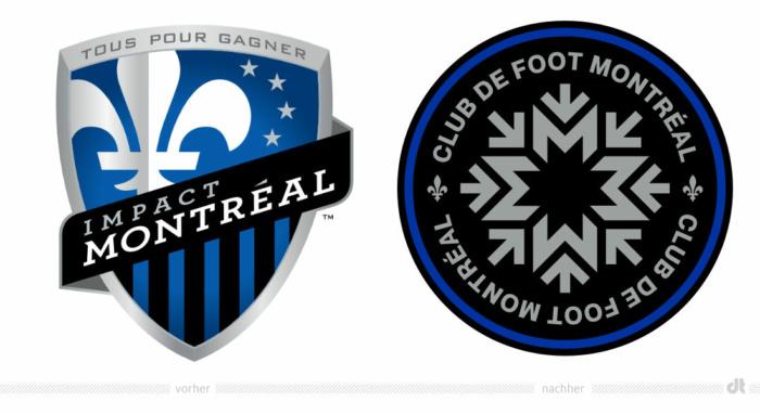 Club de Foot Montréal Logo, Bildquelle: CF Montréal, Bildmontage: dt