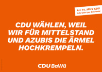 Landtagswahl Baden-Württemberg 2021 CDU – Plakat, Quelle: CDU Baden-Württemberg