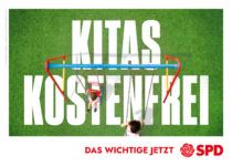 Landtagswahl Baden-Württemberg 2021 SPD – Plakat: Kitas kostenfrei, Quelle: SPD Baden-Württemberg