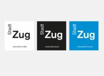 Stadt Zug Corporate Design – Logo Varianten, Quelle: Stadt Zug