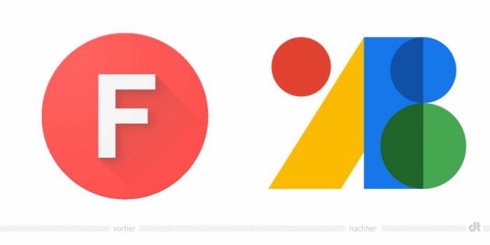 Google Fonts Logo – vorher und nachher, Bildquelle: Google, Bildmontage: dt
