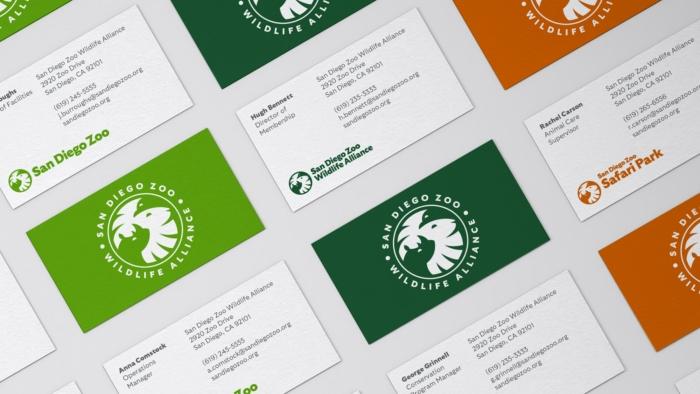 San Diego Zoo Branding – BusinessCards