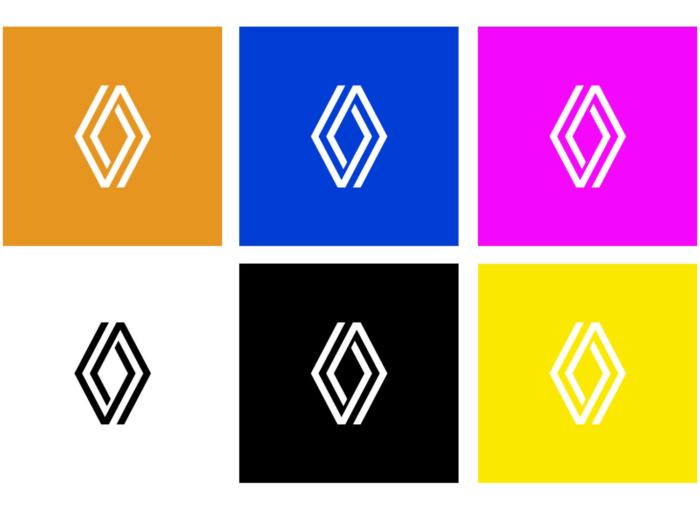 Renault Logo Varianten, Quelle: Renault
