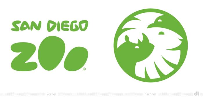San Diego Zoo Logo – vorher und nachher