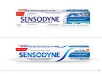 Sensodyne Verpackung Intensivreinigung – vorher und nachher, Bildquelle: GlaxoSmithKline, Bildmontage: dt