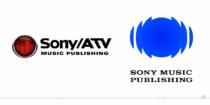 Sony Music Publising Logo – vorher und nachher, Bildquelle: Sony Music Publishing, Bildmontage: dt