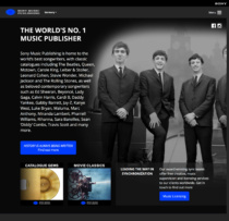 Sony Music Publising Website, Quelle: Sony Music Publishing