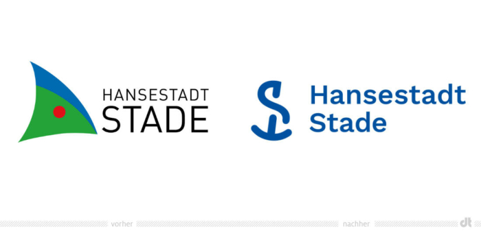 Stade Logo – vorher und nachher