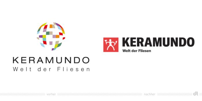 Keramundo Logo – vorher und nachher