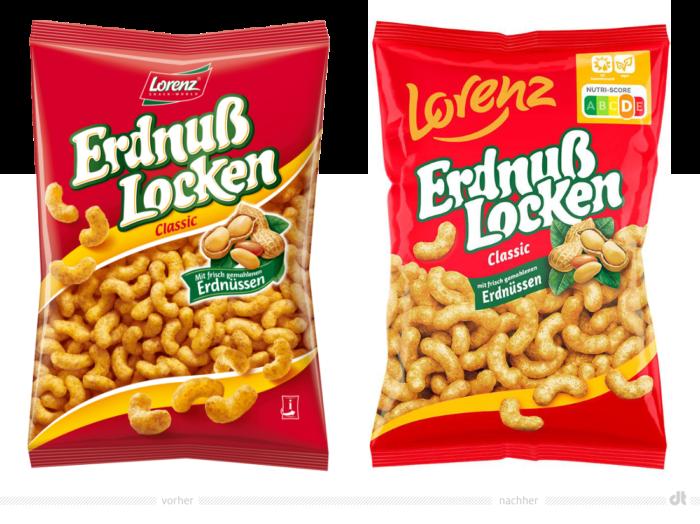 Lorenz Erdnußlocken – vorher und nachher