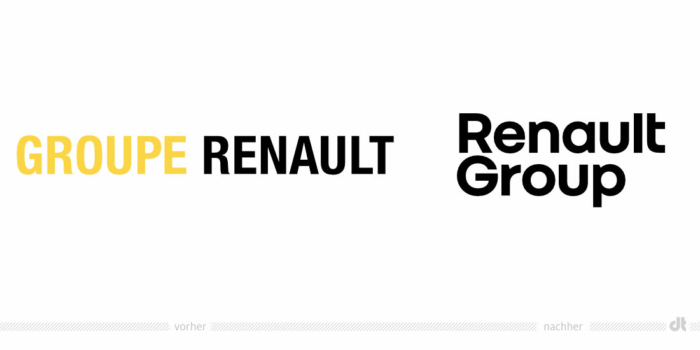 Renault Group Logo – vorher und nachher