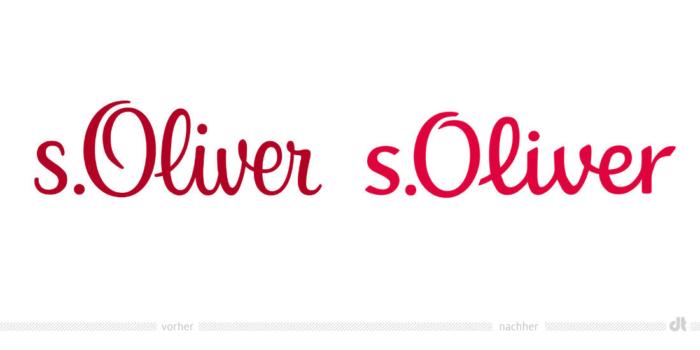 s.Oliver Logo – vorher und nachher
