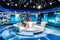 Alexander Siemon und Tatjana Ohm im neuen WELT-Nachrichtenstudio
