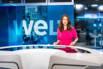 WELT-Chefmoderatorin Tatjana Ohm im neuen Nachrichtenstudio