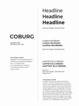 Coburg Corporate Design – Typographie, Quelle: Stadtverwaltung Coburg