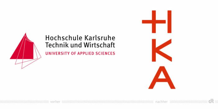 Hochschule Karlsruhe Logo – vorher und nachher, Bildquelle: CAPITAL, Bildmontage: dt