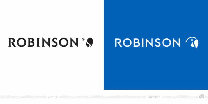 Robinson Club Logo – vorher und nachher, Bildquelle: Robinson Club, Bildmontage: dt