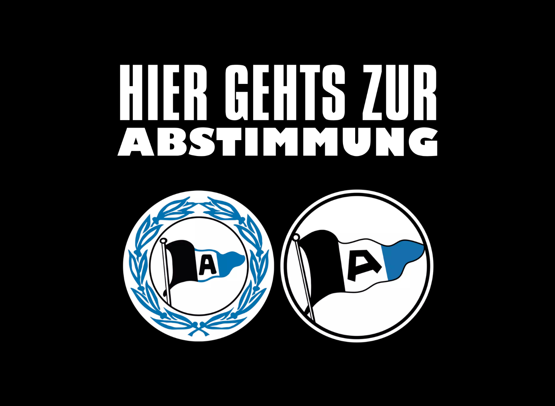 Arminia Bielefeld Logo – Abstimmung, Quelle: Arminia Bielefeld