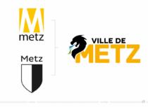 Metz Logo – vorher und nachher, Bildquelle: Stadtverwaltung Metz, Bildmontage: dt