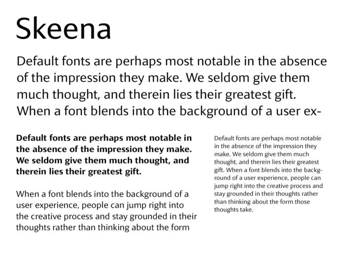 Microsoft Fonts – Skeena