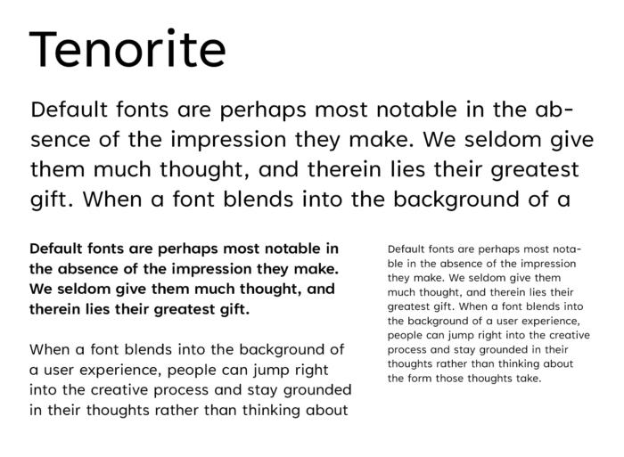 Microsoft Fonts – Tenorite