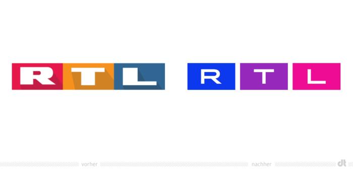 RTL Logo – vorher und nachher, Bildquelle: RTL / TVNOW
