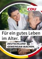 CDU Plakat Bundestagswahl 2021 – Alter/Pflege, Quelle: CDU