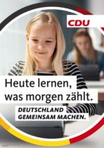 CDU Plakat Bundestagswahl 2021 – Bildung, Quelle: CDU