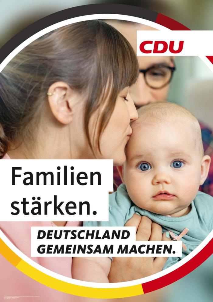 CDU Plakat Bundestagswahl 2021 – Familie, Quelle: CDU