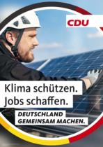 CDU Plakat Bundestagswahl 2021 – Klima, Quelle: CDU