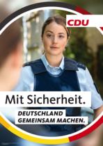 CDU Plakat Bundestagswahl 2021 – Sicherheit, Quelle: CDU