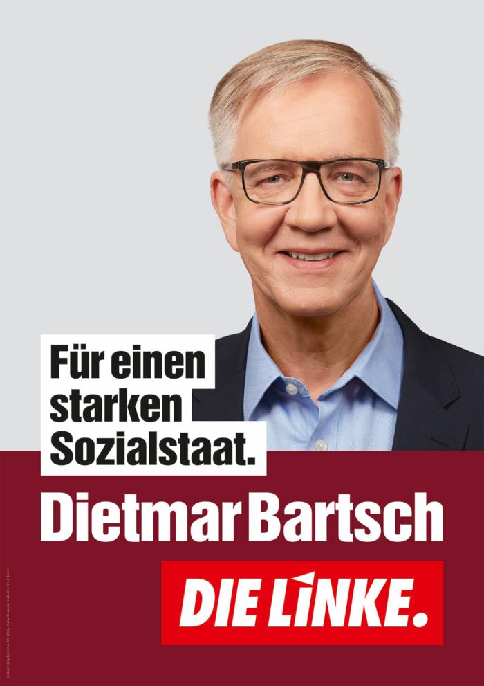 DIE LINKE Plakat Bundestagswahl 2021 – Dietmar Bartsch