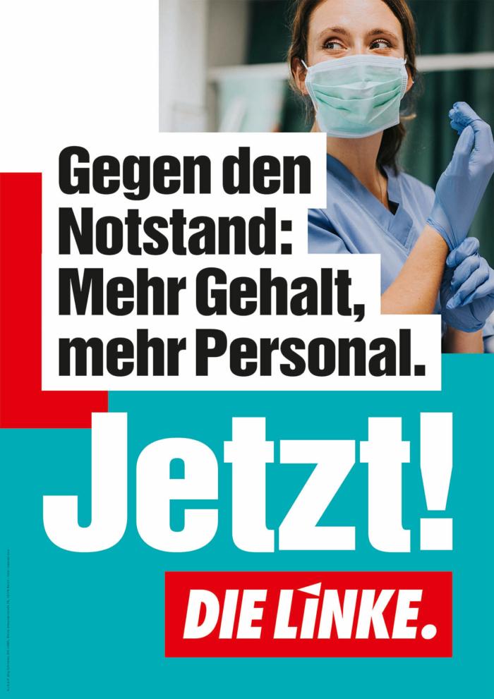 DIE LINKE Plakat Bundestagswahl 2021 – Pflege