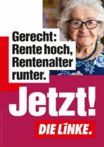 DIE LINKE Plakat Bundestagswahl 2021 – Rente, Quelle: DIE LINKE