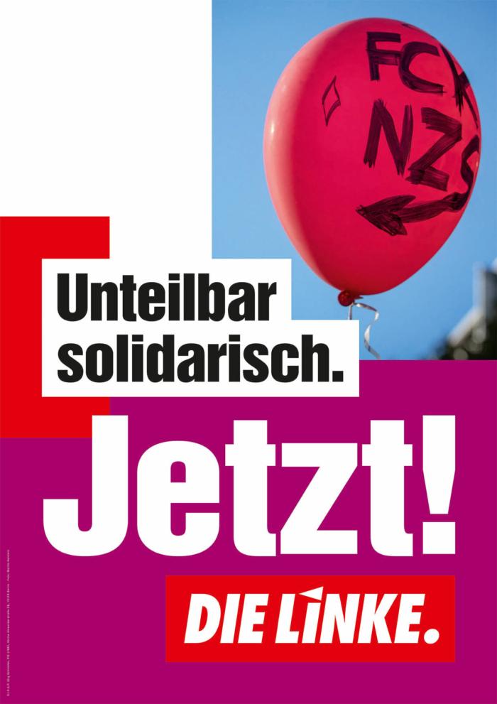 DIE LINKE Plakat Bundestagswahl 2021 – solidarisch