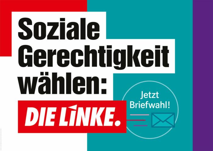 DIE LINKE Plakat Bundestagswahl 2021 – Soziale Gerechtigkeit