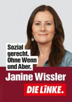 DIE LINKE Plakat Bundestagswahl 2021 – Janine Wissler