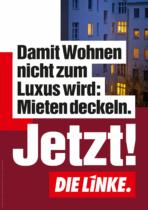 DIE LINKE Plakat Bundestagswahl 2021 – Wohnen