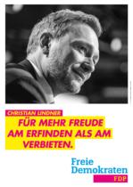 FDP Plakat Bundestagswahl 2021 – Erfinden