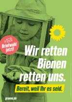 Bündnis90/Die Grünen Plakat Bundestagswahl 2021 – Artenvielfalt