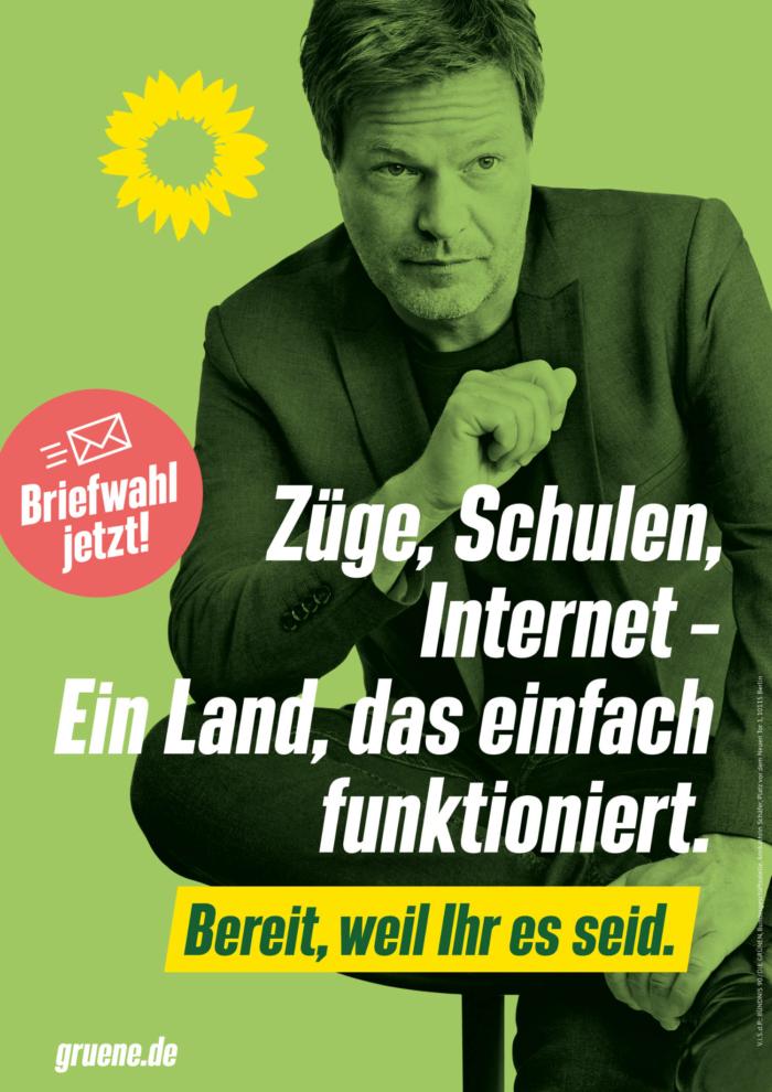 Bündnis90/Die Grünen Plakat Bundestagswahl 2021 – Daseinsvorsorge