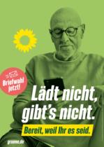 Bündnis90/Die Grünen Plakat Bundestagswahl 2021 – Digitalisierung