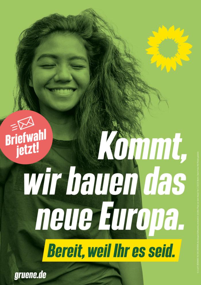 Bündnis90/Die Grünen Plakat Bundestagswahl 2021 – Europa